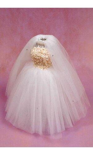 """11.5"""" BRIDE W/RHINESTONE IVORY"""