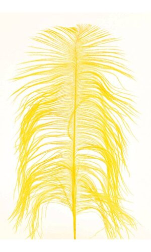 """12""""-14"""" OSTRICH FEATHER YELLOW PKG/12"""