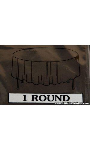 RECTANGULAR/ROUND PLASTIC TABLE COVER BLACK