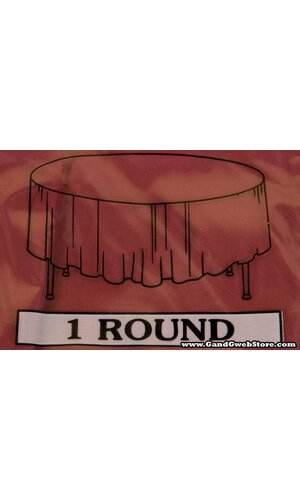 RECTANGULAR/ROUND PLASTIC TABLE COVER BURGUNDY