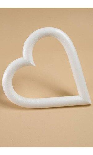 "6"" WHITE ROUND OPENED HEART PKG/3"
