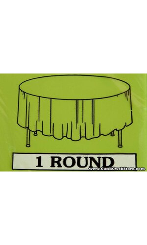 RECTANGULAR/ROUND PLASTIC TABLE COVER LIME GREEN