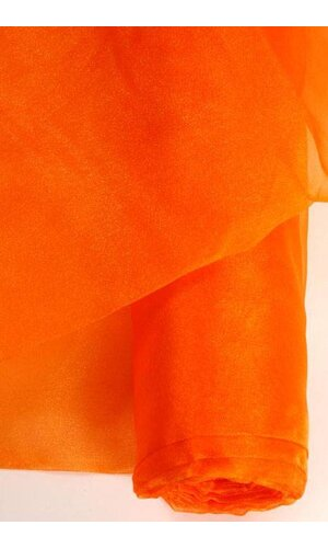 "60"" X 15YDS SHIMMER ORGANZA FABRIC ORANGE"