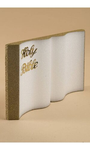 "18"" STYROFOAM HOLY BIBLE WHITE/GOLD"