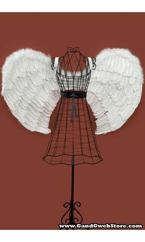 """36"""" X 23"""" FEATHER ANGEL WINGS WHITE"""