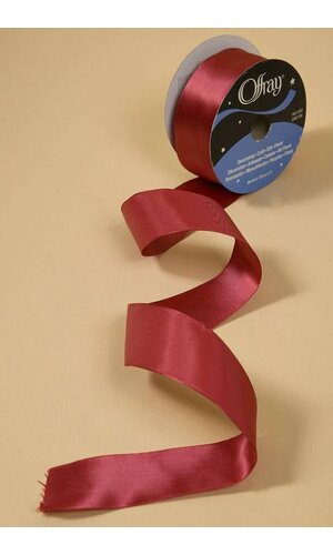 "1-1/2"" X 25YDS WIRED CONTESSA RIBBON SCARLET RED"