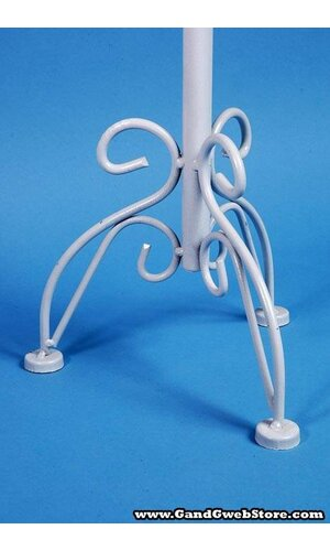 "5"" X 25"" ADJUST TO 43""H PILLAR STAND WHITE"