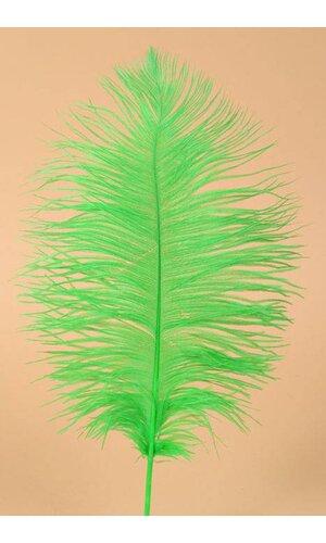 "12"" - 14"" OSTRICH FEATHER KELLY GREEN PKG/12"