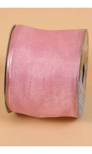 """2.5"""" X 25YDS WIRED ENCORE SHEER RIBBON LIGHT PINK"""
