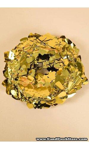 25FT GLEAM'N FLEX HEART GARLAND GOLD PKG/6