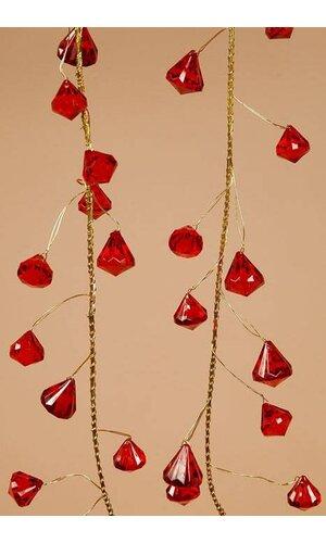 6FT PRISM GARLAND RED/GOLD