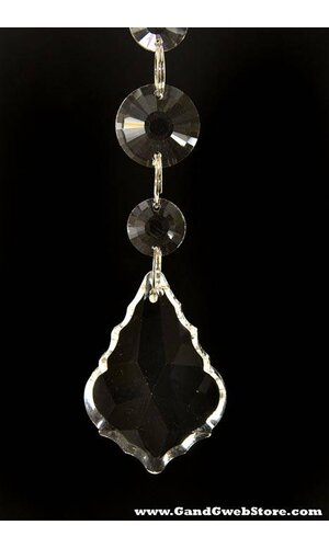"""6.5"""" X 50MM CRYSTAL DROP HANGING CLEAR"""