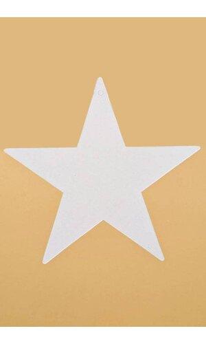 """9"""" FOIL STARS WHITE PKG/12"""