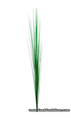"36"" GLITTER LASER GRASS BUSH GREEN PKG/12"