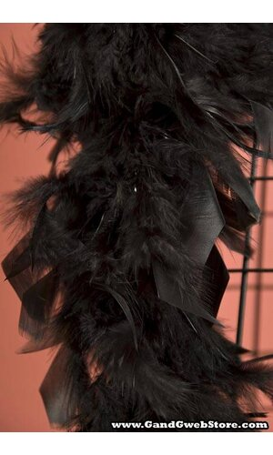 "72"" FEATHER BOAS (60GM) BLACK"