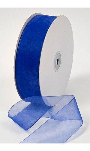 ORGANDY RIBBON ROYAL BLUE