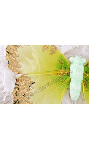 "8"" GLITTER SHEER BUTTERFLY MINT"