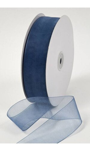 ORGANDY RIBBON - SMOKY BLUE #21