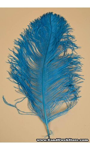 """18""""-22"""" OSTRICH FEATHER TURQUOISE PKG/12"""