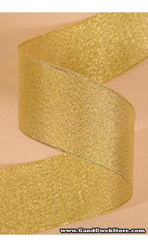 "1.5"" X 25YDS LUSTER METALLIC RIBBON GOLD"