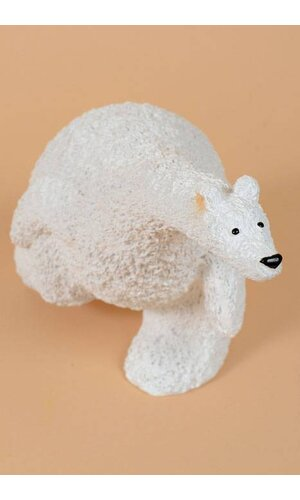 "12"" FORWARD RUNNING POLAR BEAR CREAM"