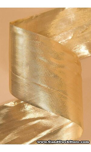 "2.5"" X 25YDS METALIQUE RIBBON GOLD"
