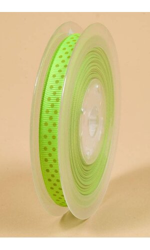 "3/8"" X 17YDS GROSGRAIN ACID GREEN #556"