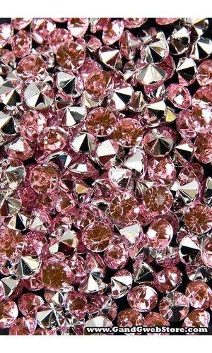 5MM DIAMOND RHINESTONE PINK PKG/210