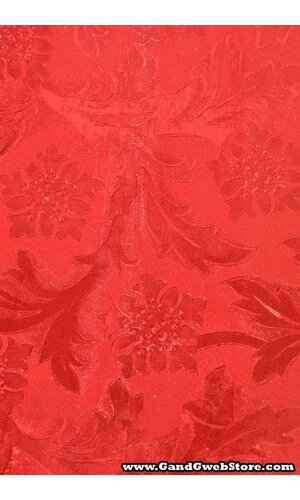 """20"""" X 30' POLY EMBOSSED FOIL CARDINAL RED EA"""