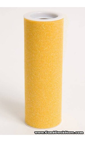 """6"""" X 10YDS SPARKLE TULLE YELLOW"""
