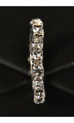 ELASTIC RING W/DIAMOND CRYSTAL PKG/12