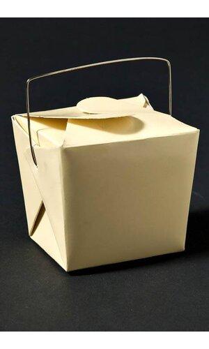 """2.5"""" X 2"""" X 2.5"""" PAPER TAKE OUT BOX BEIGE PKG/12"""