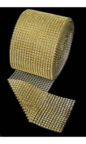 "4.5"" X 10YDS DIAMOND WRAP GOLD"