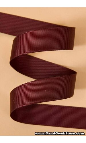 GROSGRAIN RIBBON BURGUNDY