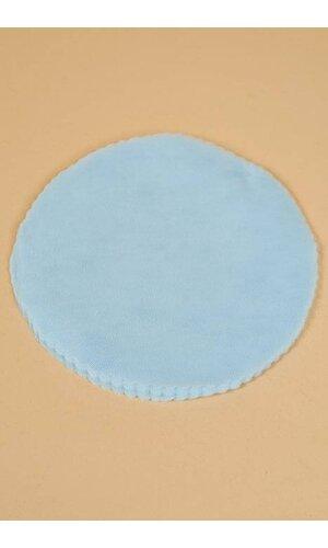 """9"""" ROUND SCALLOPED EDGE TULLE BLUE PKG/50"""
