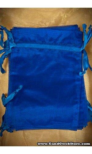 """5"""" X 7"""" ORGANZA POUCHES ROYAL BLUE PKG/12"""