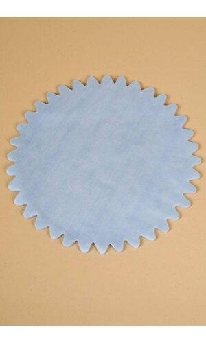 "9"" ROUND ORGANZA CIRCLE W/SCALLOPED EDGE BLUE PKG/50"