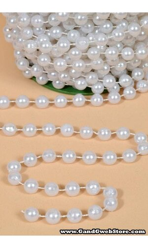 10MM X 15YDS PEARL GARLAND WHITE