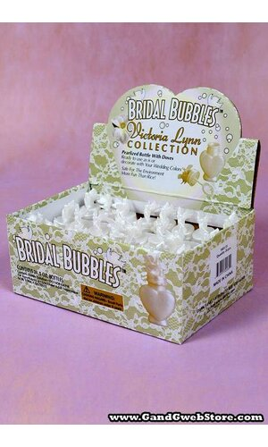 0.5 OZ WEDDING BUBBLE W/2 DOVES PKG/24