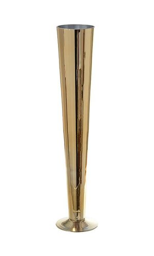 "23.5"" FLUTED GLASS VASE GOLD"