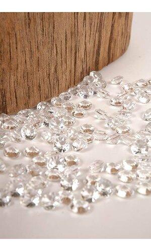 9MM ACRYLIC DIAMOND CLEAR (APPR. 1000 PCS)
