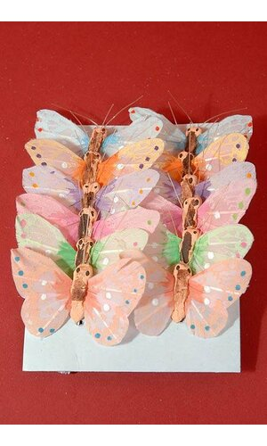 "1"" MINI NYLON BUTTERFLY ASSORTED PKG/12"