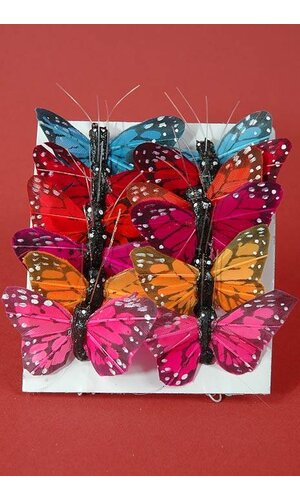 "1"" MINI BUTTERFLY ASSORTED PKG/12"