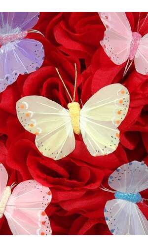 """3"""" PASTEL BUTTERFLY ASSORTED PKG/12"""