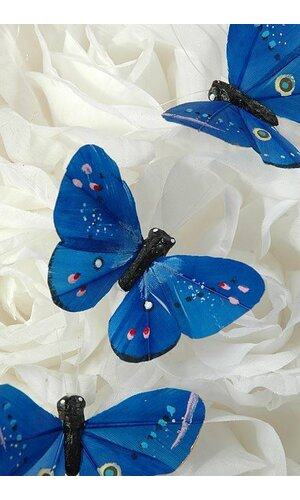 "3"" BUTTERFLY ROYAL BLUE PKG/12"