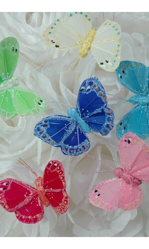 "2"" BUTTERFLY ASSORTED PKG/12"