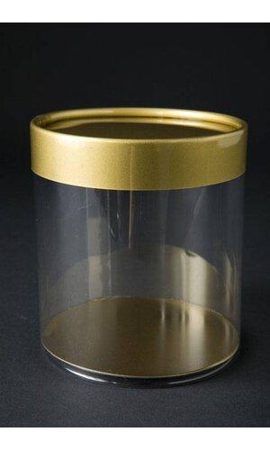 "3"" X 3"" GOLD CYLINDER BOX PKG/6"
