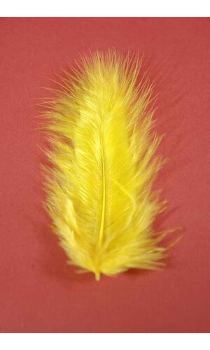 """3.5"""" OSTRICH FEATHERS YELLOW PKG/100"""