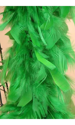 "72"" FEATHER BOAS (60GM) KELLY GREEN EA"