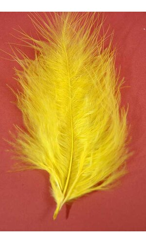 "7"" OSTRICH FEATHER YELLOW PKG/50"